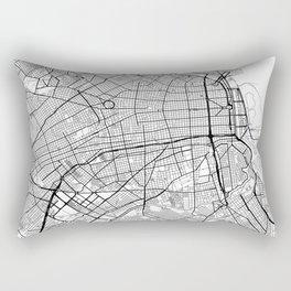 Buenos Aires Map White Rectangular Pillow