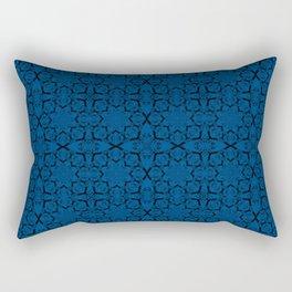 Lapis Blue Geometric Rectangular Pillow