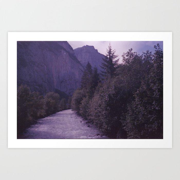 Going to the mountain Art Print
