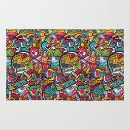 Murales print Rug