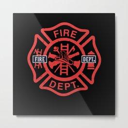 Fire Department Symbol Gift Idea Metal Print
