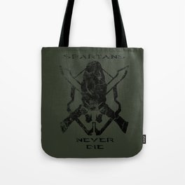 Spartans Never Die  |  Halo Tote Bag