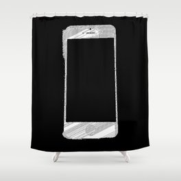 iPhone 5 Wolfram Rule 126 Part 2 Shower Curtain