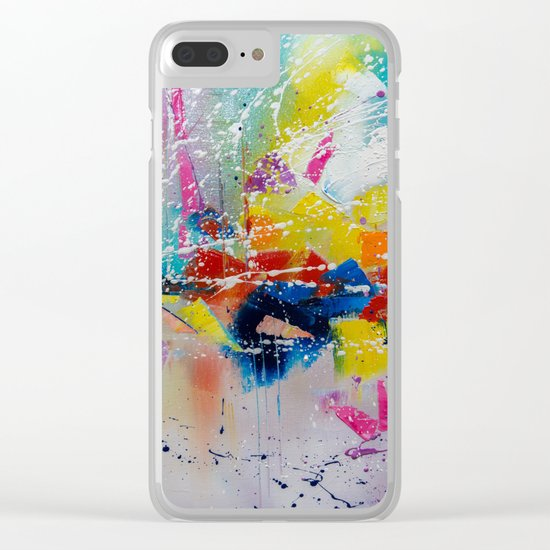 Travel of color Clear iPhone Case