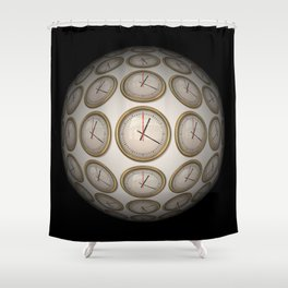 Time Time Time Shower Curtain