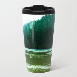 Foggy Beach in Oregon Travel Mug