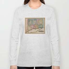 Vintage Map of Connecticut (1823) Long Sleeve T-shirt
