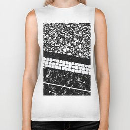 Terrazzo Pattern Black & White #1 #texture #decor #art #society6 Biker Tank