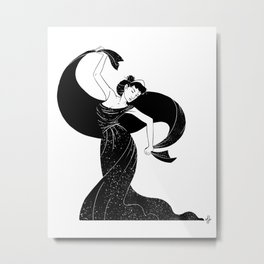 Nyx - Goddess of  the night Metal Print