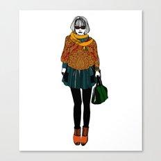 Pen Style illo in colour Canvas Print