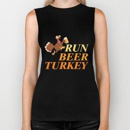 Thanksgiving T-Shirt Funny Run Beer Turkey Tee Running Gift Biker Tank