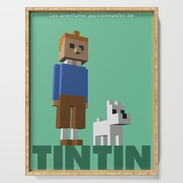 Tintin voxel tribute Serving Tray
