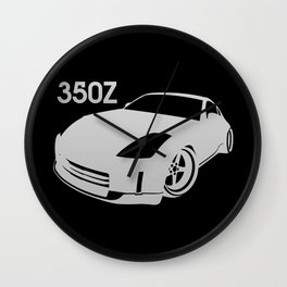 Nissan 350Z - silver - Wall Clock