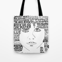 "Linda Ronstadt ""Song Titles"" Word Art Tote Bag"