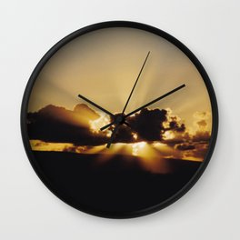 Spectacular Sunset with Clouds Wall Clock