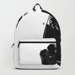 Mind wanders. Backpack
