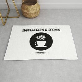 Superheroes and Scones Rug
