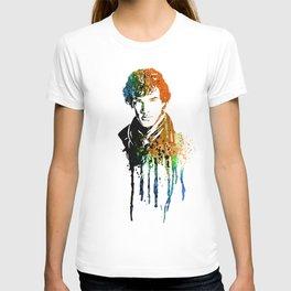 SHERLOCK portrait B #WATERCOLOR T-shirt