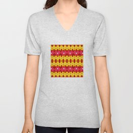 Iron Man Pattern Unisex V-Neck