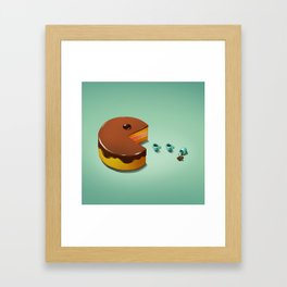 Art Snacks: Pacman Cake Framed Art Print