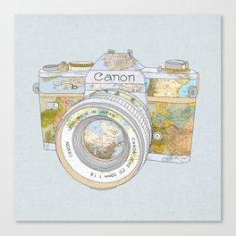 TRAVEL CAN0N Canvas Print