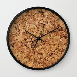 Cork pattern Wall Clock