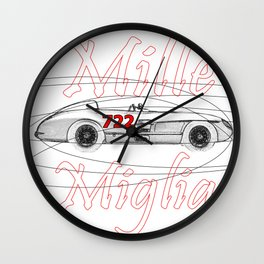RennSport Speed Series: Mille Miglia Wall Clock
