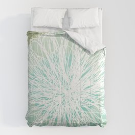 Doodle Flowers in Mint by Friztin Comforters