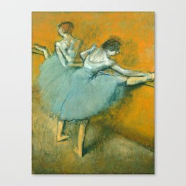 Degas Painting - Dancers at the Barre, 1900 Canvas Print