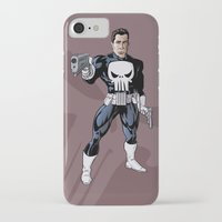 punisher iPhone & iPod Cases featuring The Punisher by Joseph  Griffin Art
