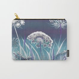 Wild Carrot - blue Carry-All Pouch