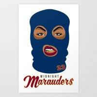 Midnight Marauder$ - Cavs Navy Print Art Print