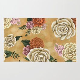Gold luxury floral Rug
