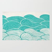 calm Area & Throw Rugs featuring The Calm and Stormy Seas by Pom Graphic Design