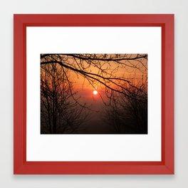 Red Sunrise Framed Art Print