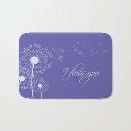 I floss you (purple) Bath Mat
