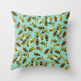 Morgan's Bees Throw Pillow