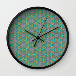 Geometric Flower Pattern 2 Wall Clock