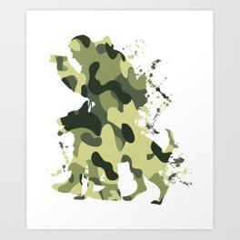 German Armed Forces soldier dog army gift T-Shirt Art Print