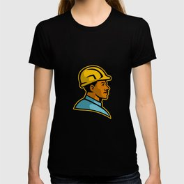 African American Construction Worker Mascot T-shirt