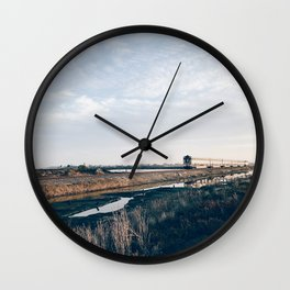 BLUE MOON XVI / Alviso, California Wall Clock