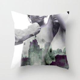Heart of City Throw Pillow