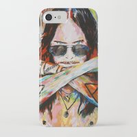 30 seconds to mars iPhone & iPod Cases featuring Jared Leto 30 Seconds To Mars Original Acrylic Painting by RockChromatic