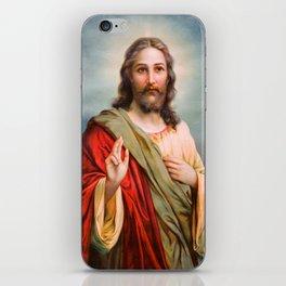 Jesus Christ Blessing Catholic Religion Art Christmas Gift Christian iPhone Skin
