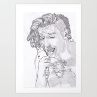 matty healy Art Prints featuring Matty by ☿ cactei ☿