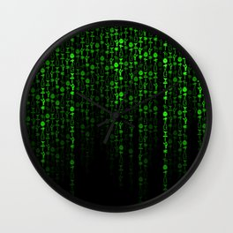 Bright Neon Green Digital Cocktail Party Wall Clock
