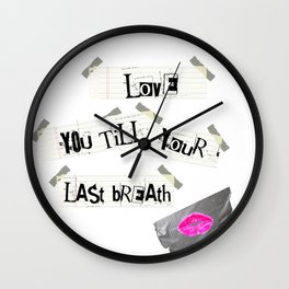 Psychopathic Crush Wall Clock