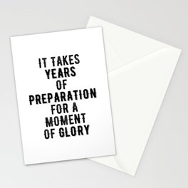 Inspirational -Prepare For Glory Stationery Cards