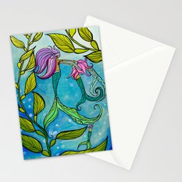 Mermaid Mama Ocean Art by Lauren Tannehill Art Stationery Cards