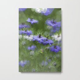 Flowering Herbs Metal Print